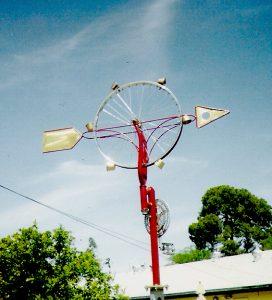 Biking to the Wind Sculpture