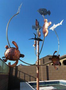 Skin Diver Wind Sculpture