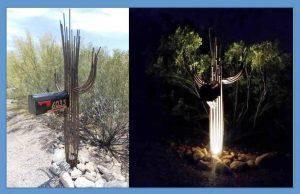 Sahuaro Cactus Mailbox Lit & Unlit