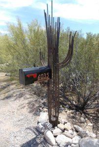 Unlit Sahuaro Cactus Mailbox